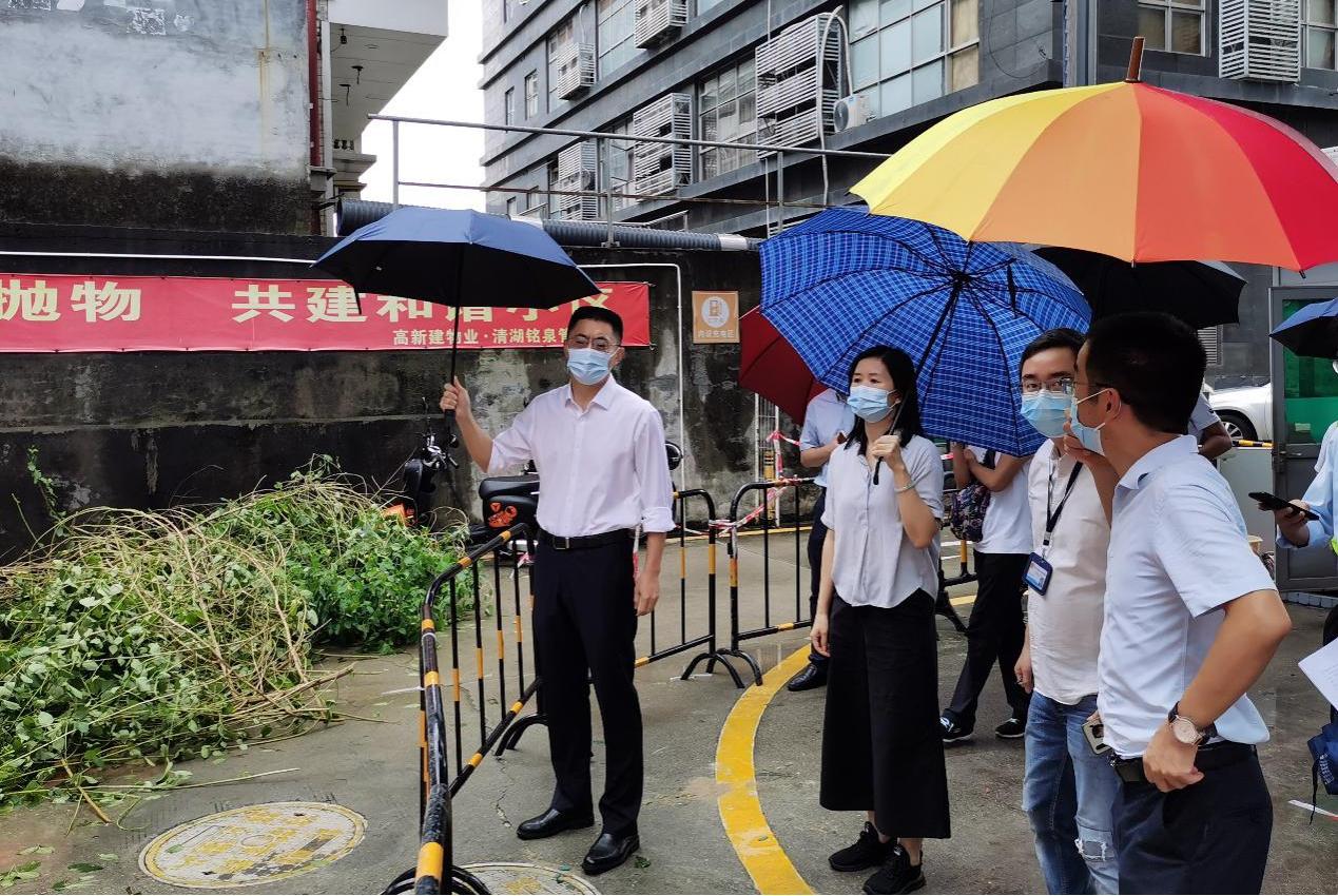 商澎涛副区长带队开展我区危险边坡和在建工程项目安全检查工作